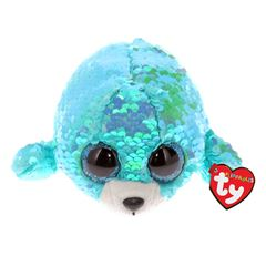 Peluche Waves - Sequin Aqua Seal TY - Sanborns