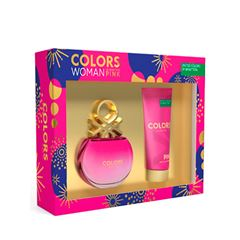 Set para dama, Benetton, Colors Pink, EDT 80 ml+ body lotion 75 ml - Sanborns