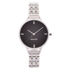 Reloj Para Dama NW2339BKSV Nine West - Sanborns