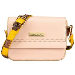Bolso Perry Ellis Crossbody Beige Modelo 16334 - Sanborns