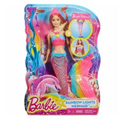 Barbie Sirena Arcoíris Brillante - Sanborns