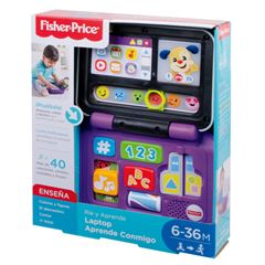 Fisher Price Rie y Aprende Laptop Aprende Conmigo - Sanborns