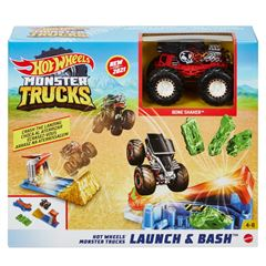 Hot Wheels Monster Trucks Lanza Y Aplasta - Sanborns