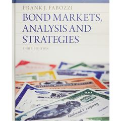 Bond Markets, Analysis And Strategies - Sanborns