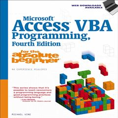 Microsoft Access VBA Programming for the Absolute Beginner - Sanborns