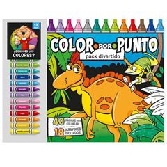 Color por punto - Pack divertido + 18 crayones - Sanborns