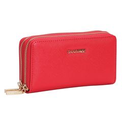 2ca760249 Cartera Perry Ellis negro. Cartera Crabtree roja doble cierre